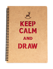"Sketch Book ""Keep Calm and Draw"""